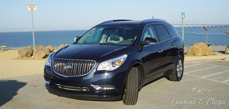 Rear seats have manual levers to put them up or down but there's also separate ventilation controls for the back. The Enclave has a nice mix of functionality and convenience. The entertainment system is always nice to have when you need to keep the kids occupied.