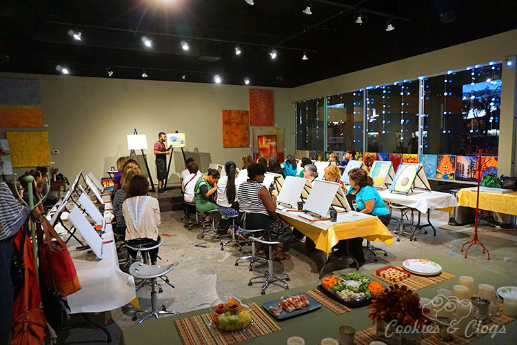 create mix mingle paint and wine studio in san mateo ca