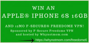Technology   iPhone 6S giveaway 16GB and 12 months of F-Secure Freedome VPN service for public Wi-Fi
