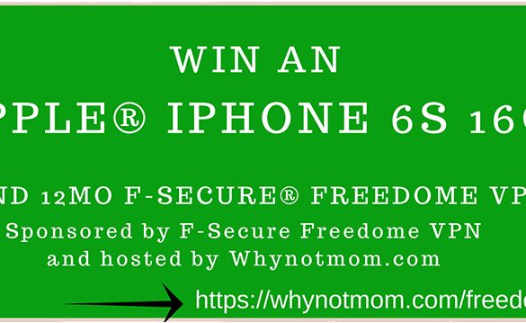 Technology | iPhone 6S giveaway 16GB and 12 months of F-Secure Freedome VPN service for public Wi-Fi