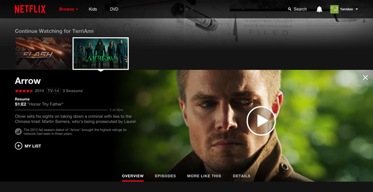 how to remove things from continue watching on netflix