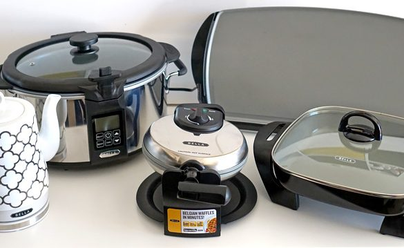 Kitchen   Household   Small Appliances   The new ceramic coated collection from BELLA offers non-stick small appliance for your kitchen that are affordable, easy to clean, and work great. The electric kettle and slow cooker with searing pot are especially impressive.