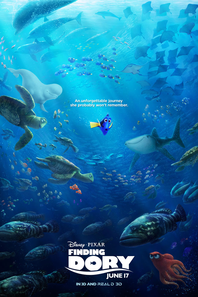 Movies | We went behind-the-scenes to check out Finding Dory at Monterey Bay Aquarium. Find out how the animators drew inspiration from the gorgeous exhibits of fish, animals, and sea life like the kelp forest. New poster