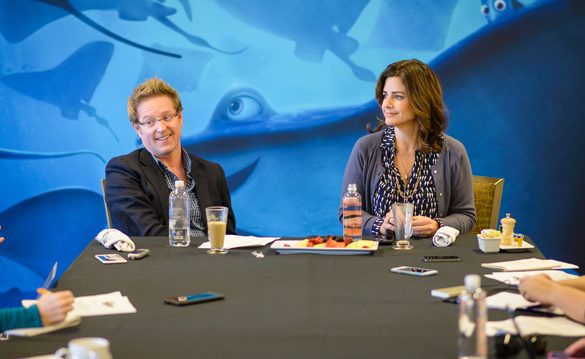 Movies | Disney / Pixar | Get the inside info about Finding Dory straight from Director Andrew Stanton and Producer Lindsey Collins in our roundtable interview. Dory's story is a tragic but intriguing one.