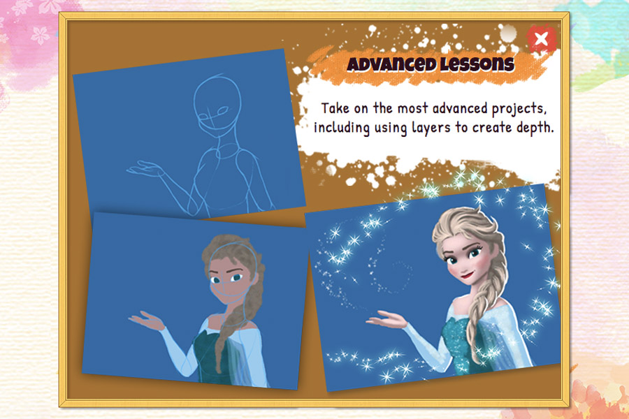 Cookies & Clogs   Video Games   The new Disney Art Academy for Nintendo 3DS has over 80 Disney and Pixar characters to draw and 40 lessons, ranging from starter to advanced. Step-by-step tutorials allow children to learn about the tools, try advanced shapes, practice shading, and master layers. See how my teen daughter enjoyed it in this candid review.