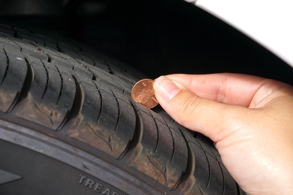 tire coin test