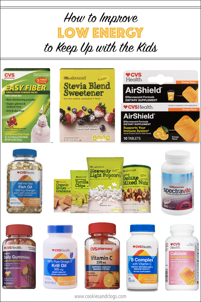 Cookies & Clogs | Health | Here's a list of several CVS Health vitamins and supplements you can use to fight low energy for keeping up with the kids.