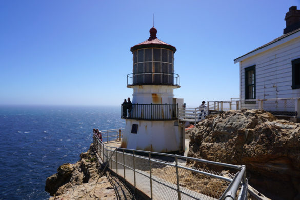 Cookies & Clogs   Want to take a family road trip to Point Reyes National Seashore in Point Reyes, CA? Here are several things to do with the kids including the Point Reyes Lighthouse. See what the climb down is like and if it's worth the trek. Close up of lighthouse