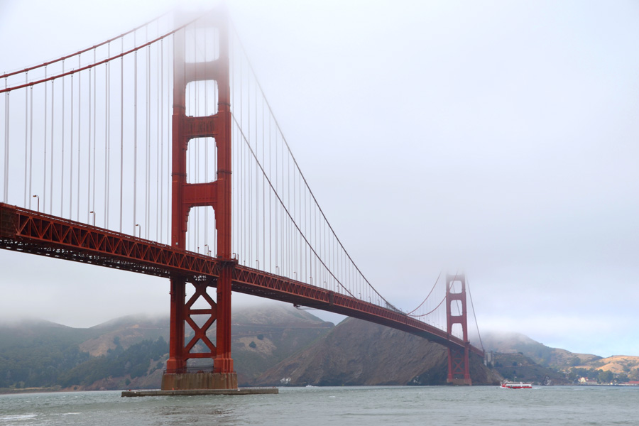 Cookies & Clogs | Travel | Looking for things to do in San Francisco with the family? Try these six day trips to see different parts of the city including Fisherman's Wharf, Chinatown, the Presidio, Muir Woods, and more. Golden Gate Bridge in the fog