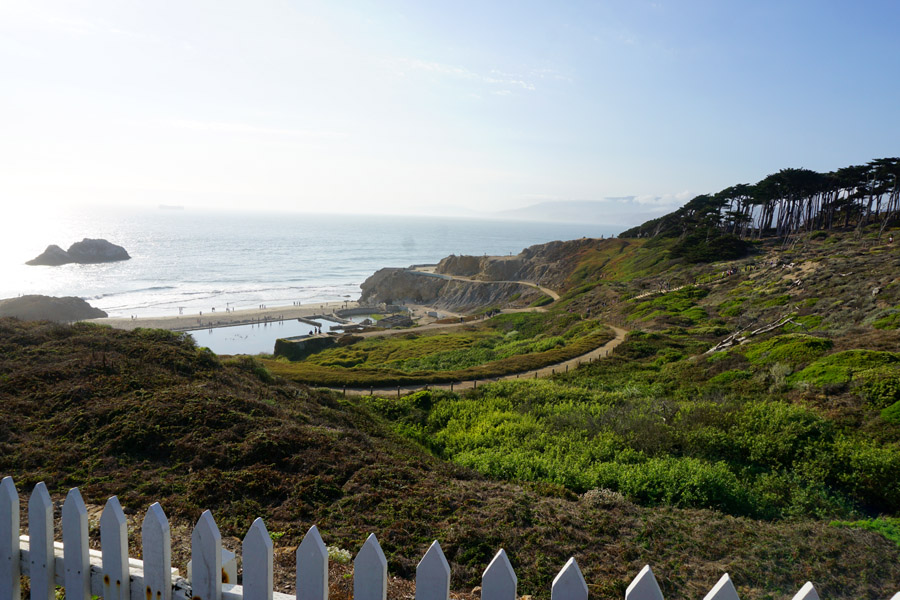 Cookies & Clogs | Travel | Looking for things to do in San Francisco with the family? Try these six day trips to see different parts of the city including Fisherman's Wharf, Chinatown, the Presidio, Muir Woods, and more. Sutro baths at Land's End