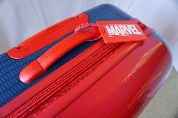 "Cookies & Clogs | Travel | The Amazing Spider-Man suitcase is here! Check out this 28"" Spinner from the Marvel Collection by American Tourister. See how this lightweight luggage handles real-world use in this quick video."