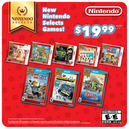 Cookies & Clogs | Check out these Back to School deals from Nintendo for August 2016 - September 2016. Includes the new Nintendo 3DS bundle, several Nintendo Select titles added, a Galaxy Blue design of the new Nintendo 3DS XL, and coming Wii U amiibo bundles.