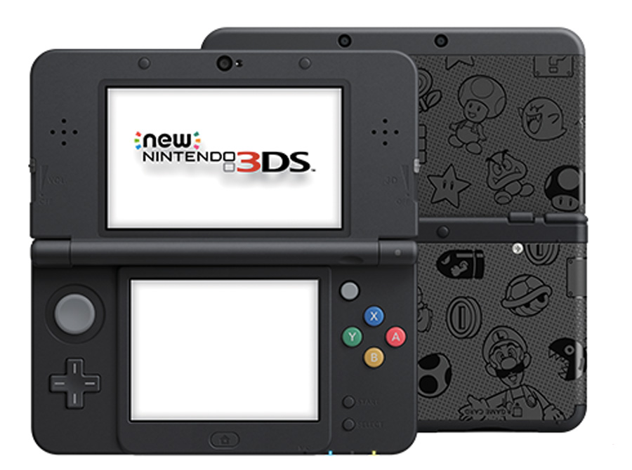 Cookies & Clogs | Video Games | Get a New Nintendo 3DS in black or white for only $99.99 during this special Nintendo Black Friday deal. Face plates include Mario and other characters from the Mushroom Kingdom. Also see upcoming 3DS games.