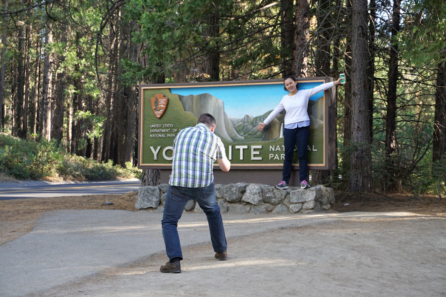 Cookies & Clogs | Finding family lifestyle blogs is easy. But, it's hard to find parenting tips and advice for raising teenagers. Why? Here's our experience of why it's so hard to write about parenting teens. Family at Yosemite sign.