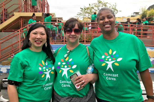 Cookies & Clogs | 2017 Comcast Cares Day at Sutro Elementary in San Francisco, CA + interview with David L. Cohen. Local community project also brings attention to Asian Pacific American Heritage Month.