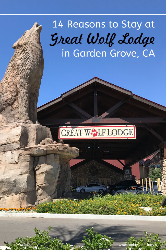 Cookies & Clogs | Great Wolf Lodge in Garden Grove, CA indoor water park review with information on activities, dining, lodging, shopping, and more.