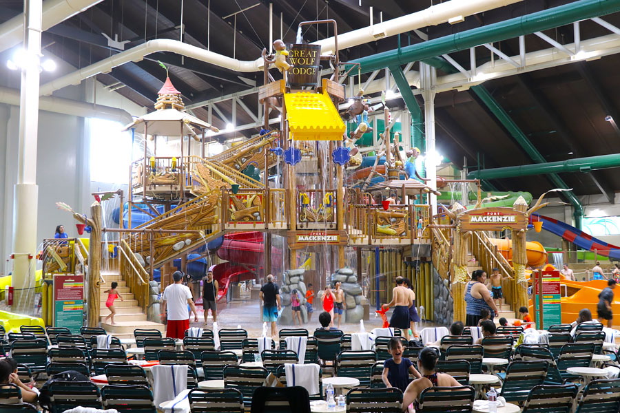 Cookies & Clogs | Great Wolf Lodge in Garden Grove, CA indoor water park review with information on activities, dining, lodging, shopping, and more. Fort Mackenzie