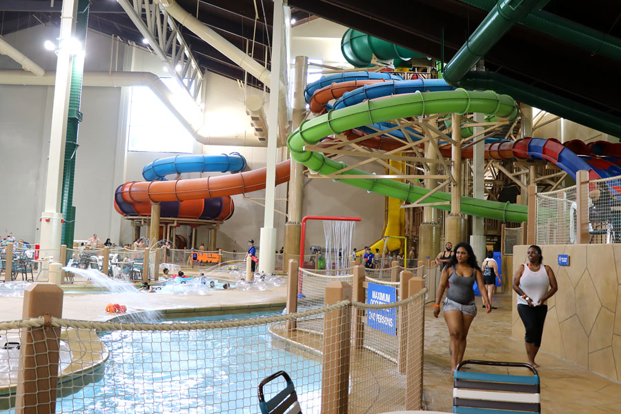 Cookies & Clogs | Great Wolf Lodge in Garden Grove, CA indoor water park review with information on activities, dining, lodging, shopping, and more. Water slides.