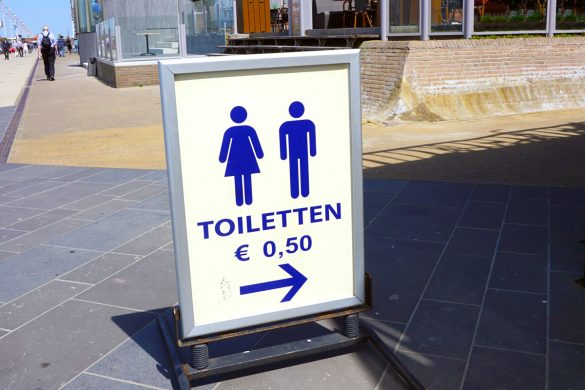 Cookies & Clogs | Potty training is already a challenge but, when you have to do it in a foreign country, it's even harder. See how doing errands in the Netherlands / Holland lead to countless accidents with my then toddler. Public toilet in Scheveningen