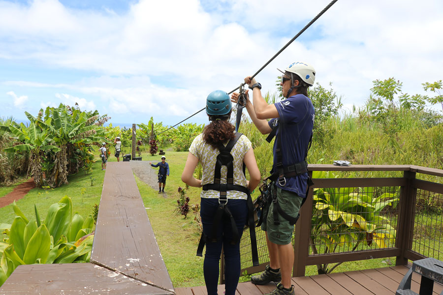 Cookies & Clogs | My first experience with ziplining in Hawaii was with Skyline Eco Adventures Akaka Falls Zipline on the Big Island of Hawaii. See how the quality, safety, and amazing crew won us over. Check out the video of all seven lines!