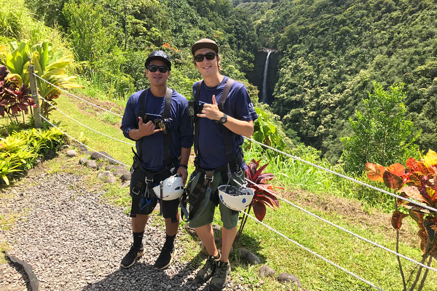 Cookies & Clogs | My first experience with ziplining in Hawaii was with Skyline Eco Adventures Akaka Falls Zipline on the Big Island of Hawaii. See how the quality, safety, and amazing crew won us over. Check out the video of all seven lines! Tour guides