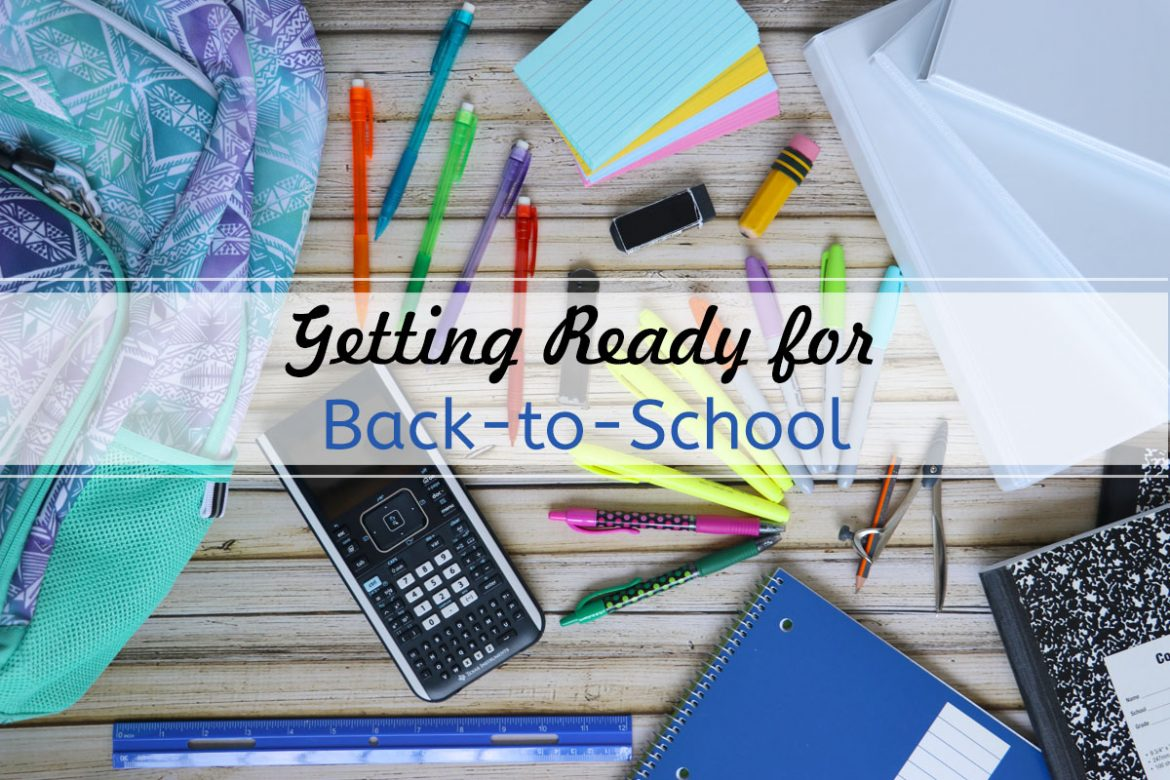 Getting ready for back to school shopping supplies and clothes for high school students.