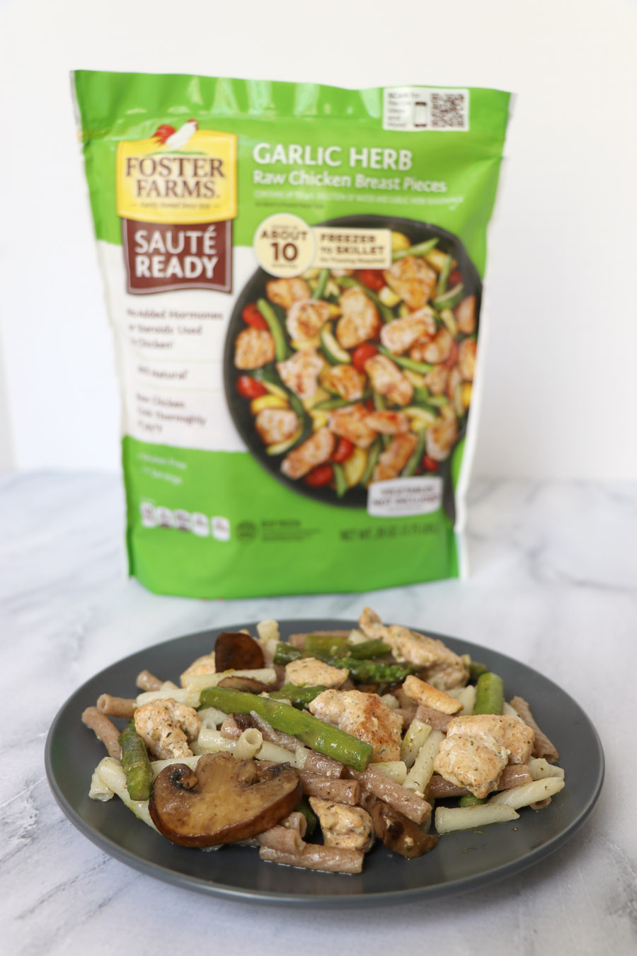Foster Farms Sauté Ready Chicken Easy Dinners - garlic herb
