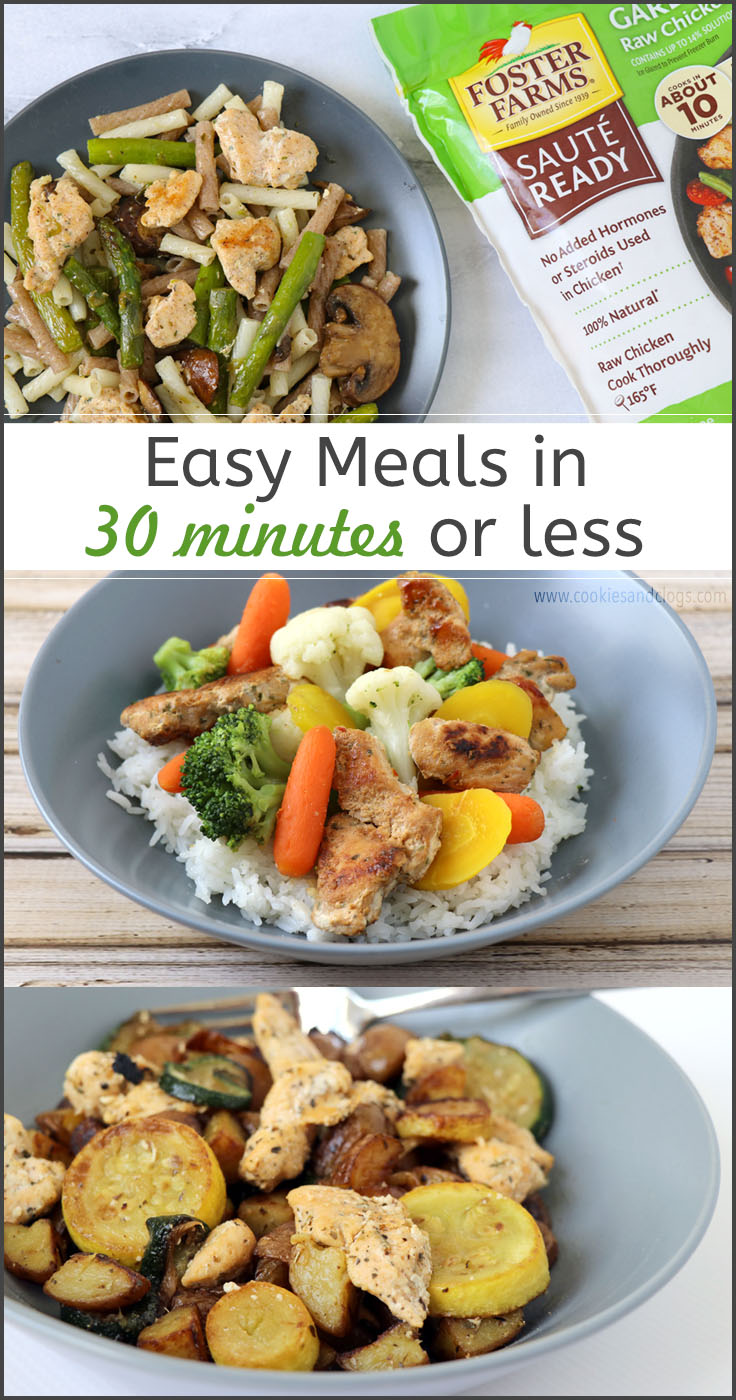 Cookies & Clogs | Chicken Recipes | Meal Ideas| Quick and easy dinners in less than 30 minutes for back to school.