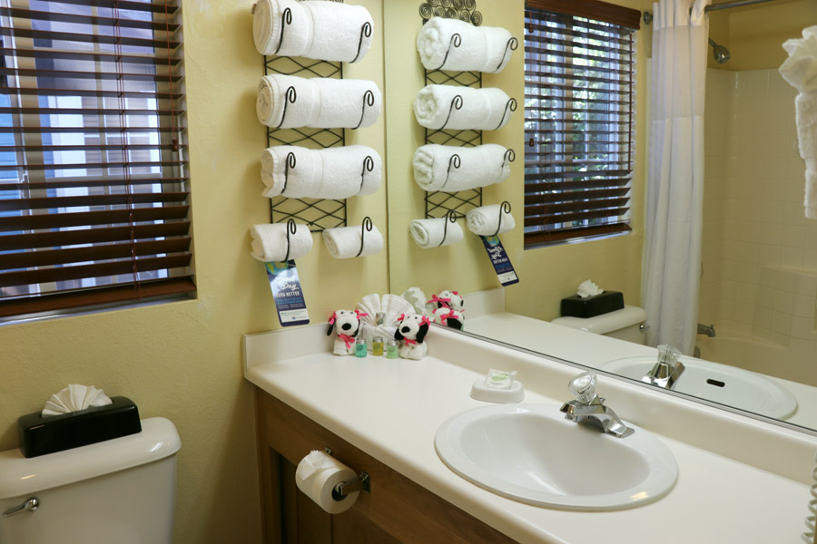 11 Things to Do in Napa, CA that Don't Involve Drinking Wine - RiverPointe Napa Valley Resort Bathroom