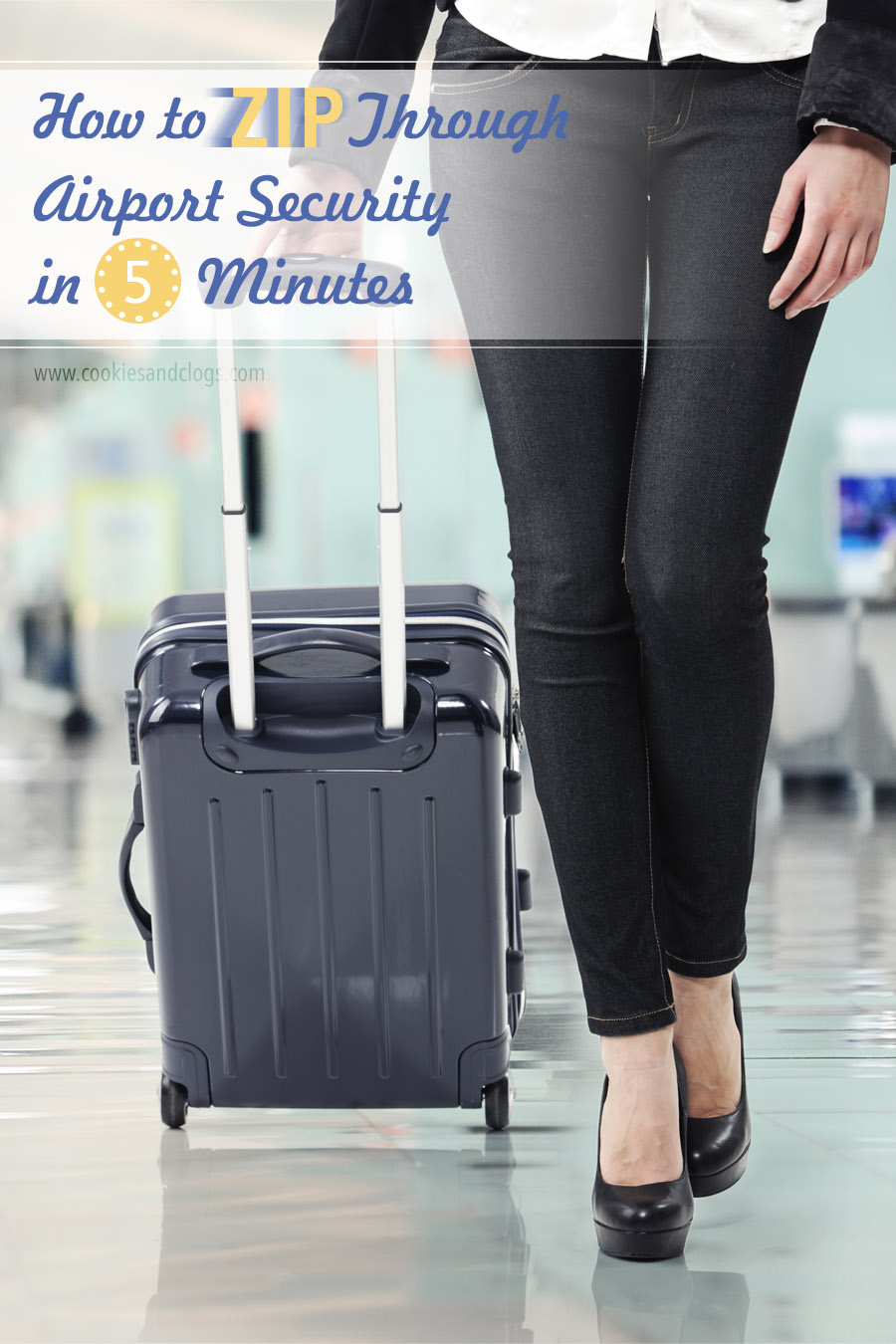 Cookies & Clogs | Air Travel Hack: How to zip through airport security screening in 5 minutes