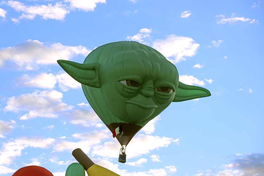 2017 Albuquerque International Balloon Fiesta in New Mexico Special Shapes Rodeo Yoda