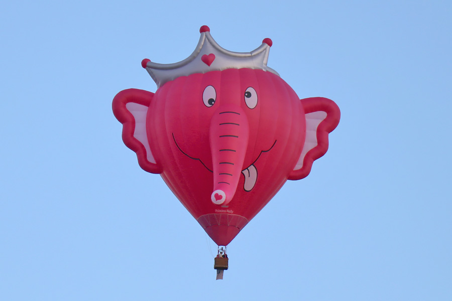2017 Albuquerque International Balloon Fiesta in New Mexico Special Shapes Rodeo Pink Elephant