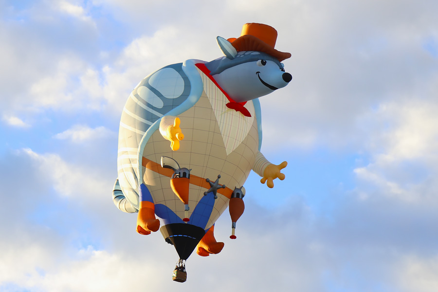2017 Albuquerque International Balloon Fiesta in New Mexico Special Shapes Rodeo Armadillo