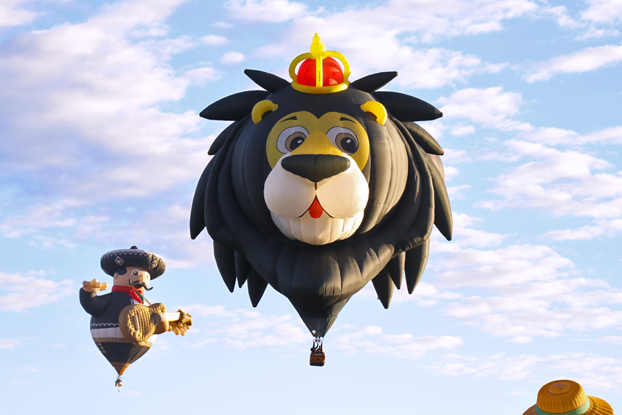2017 Albuquerque International Balloon Fiesta in New Mexico Special Shapes Rodeo Royal Lion