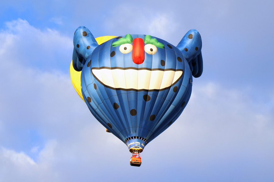 2017 Albuquerque International Balloon Fiesta in New Mexico Special Shapes Rodeo Monster