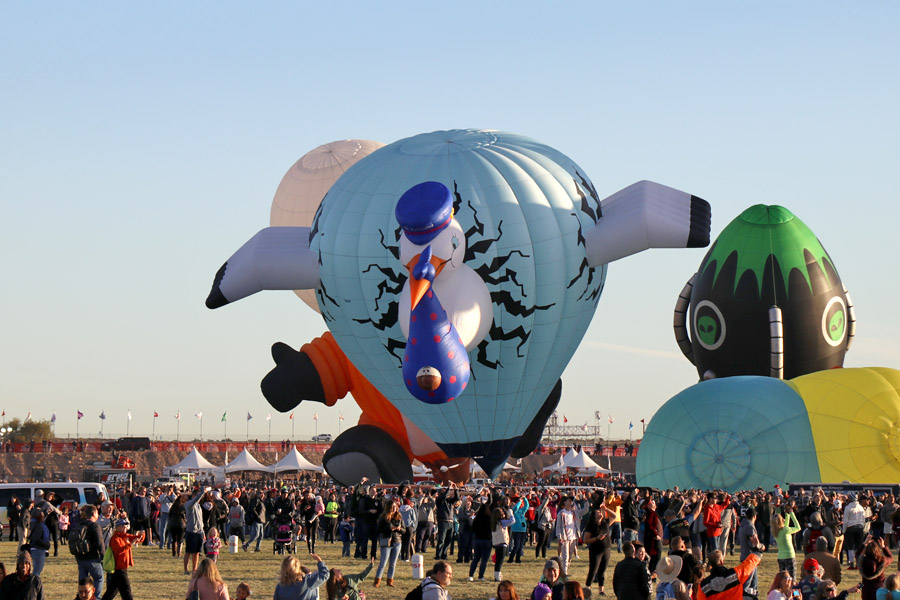 2017 Albuquerque International Balloon Fiesta in New Mexico Special Shapes Rodeo Stork