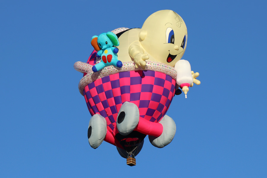 2017 Albuquerque International Balloon Fiesta in New Mexico Special Shapes Rodeo Baby Stroller