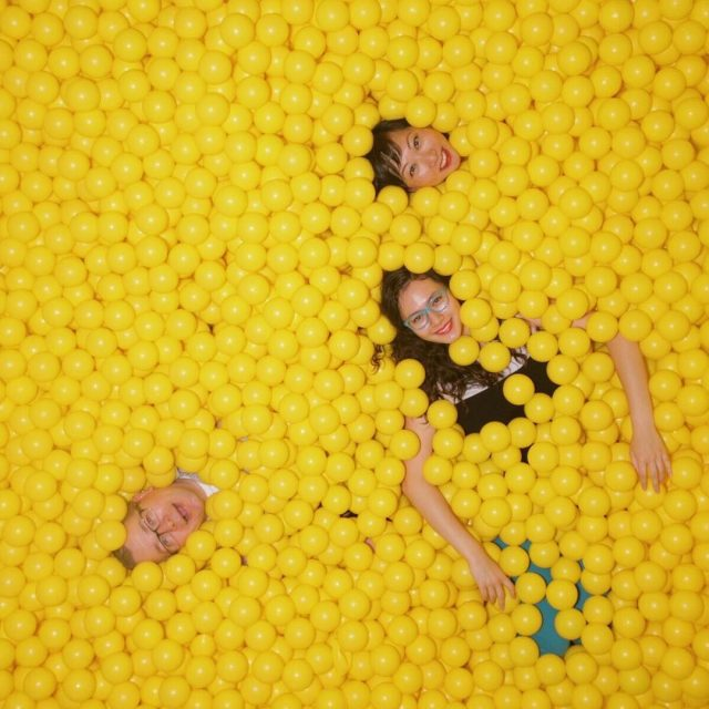 The bright yellow ballpit at colorfactoryco is a must forhellip