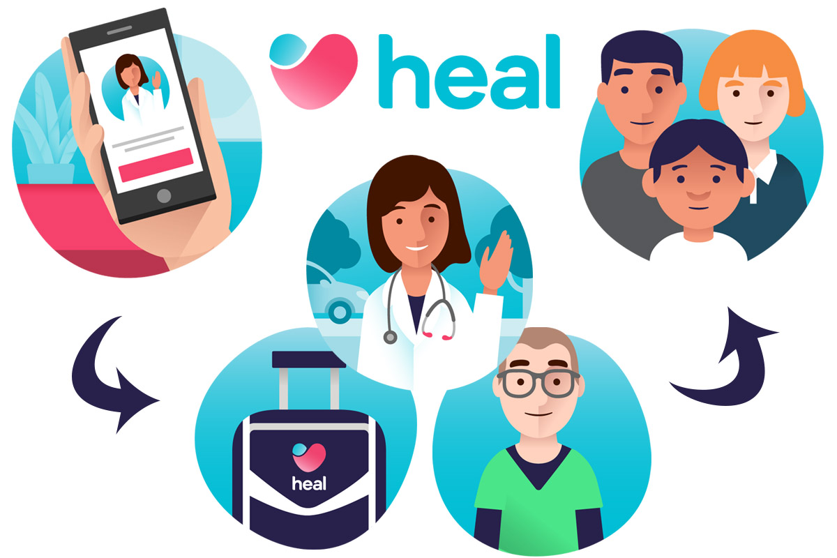 Heal App On-Demand Healthcare with Doctor House Calls Primary and Urgent Care
