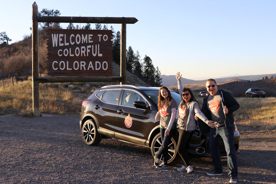 New Mexico to Colorado Family Road Trip in the 2017 Nissan Rogue Sport — Welcome to Colorful Colorado sign