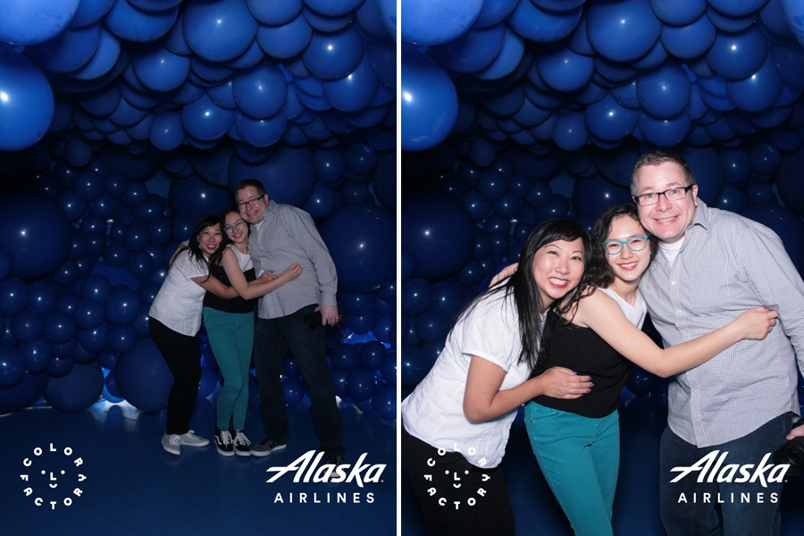Color Factory in San Francisco, CA. Blue room with balloons