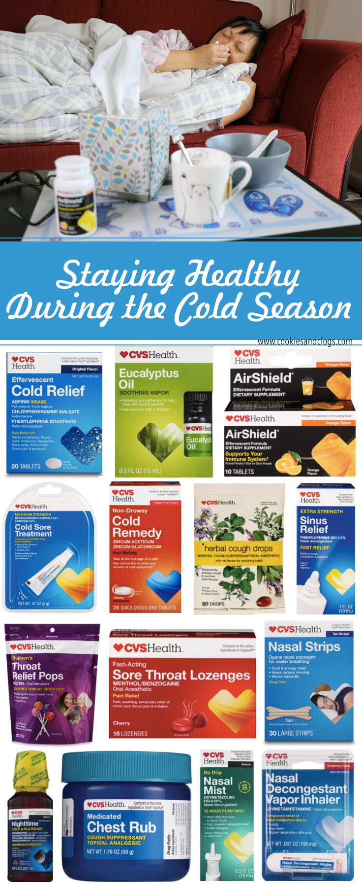 Cold season product ideas from CVS pharmacy in 2018