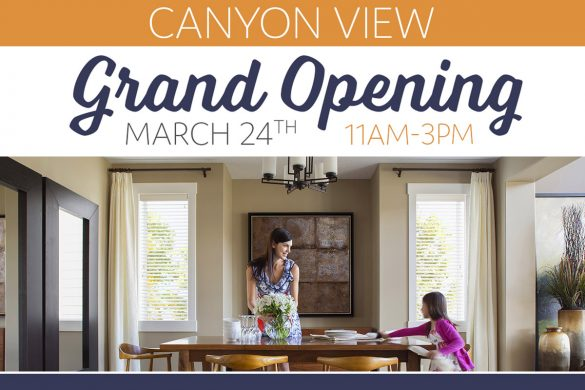Canyon View at Whitney Ranch in Rocklin, CA — Model Home Grand Opening of new homes in California.