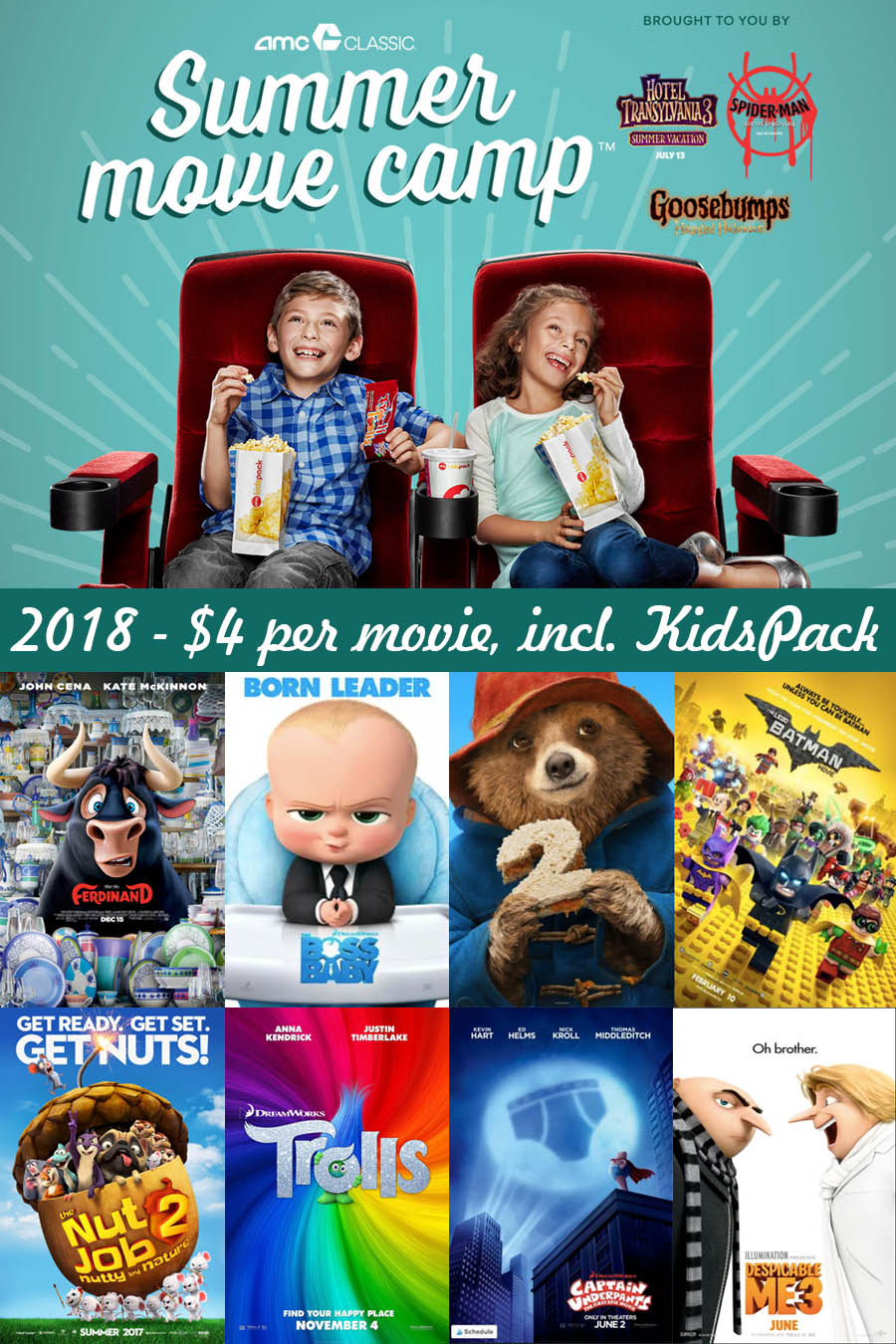 2018 Summer Movie Deals — AMC Summer Movie Camp
