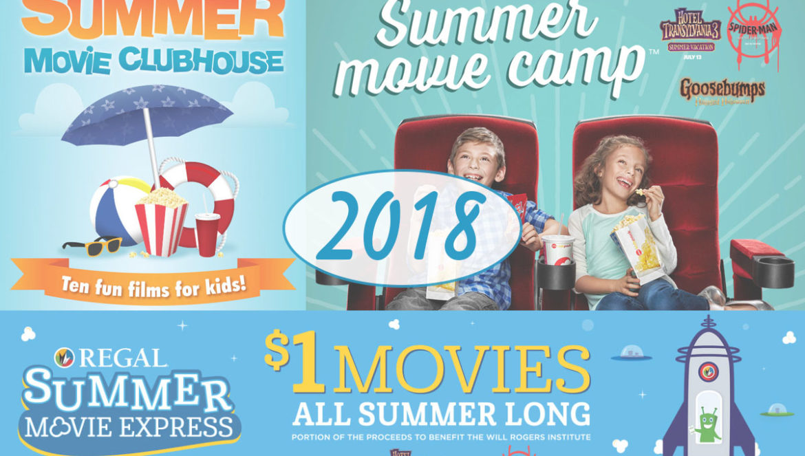 2018 Summer Movie Deals — Cinemark Summer Movie Clubhouse, Regal Summer Movie Express, AMC Summer Movie Camp
