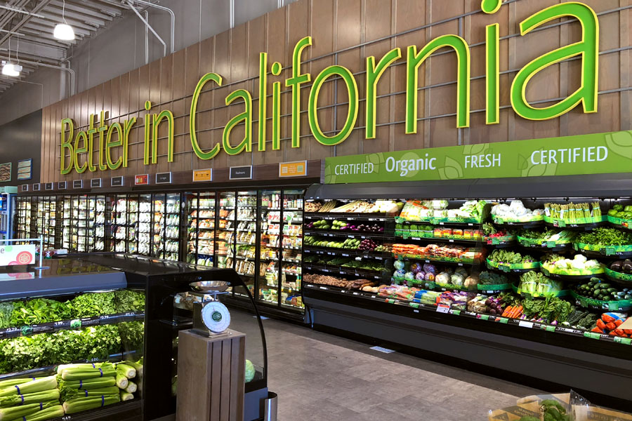 Store tour and features of Lucky California supermarket grocery store in Dublin, CA.
