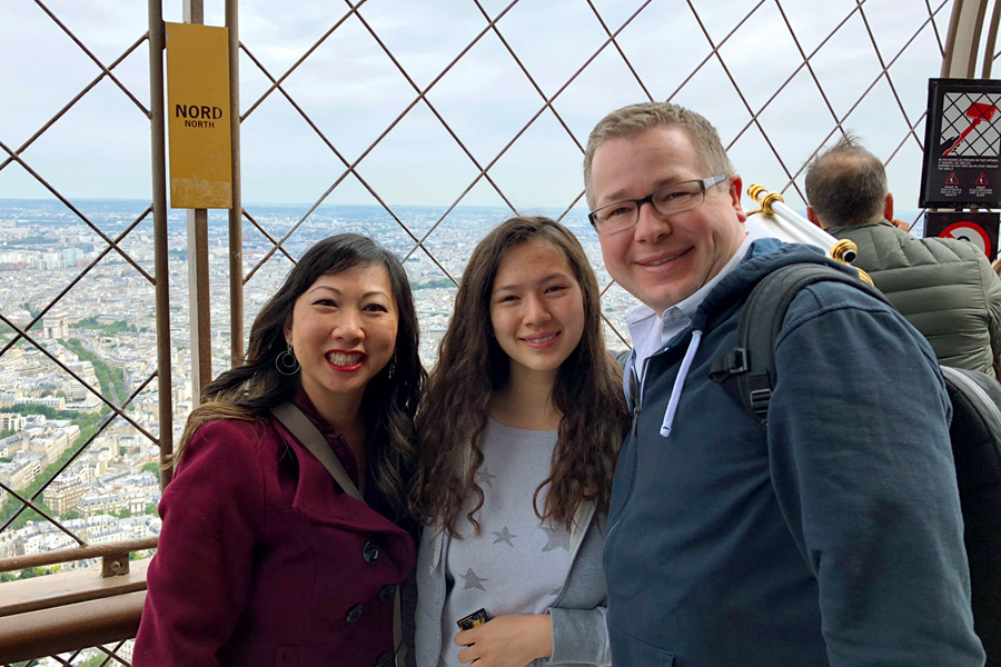 Paris Travel Guide: Top tips for how to visit the top of the Eiffel Tower in Paris France Mixed Race family