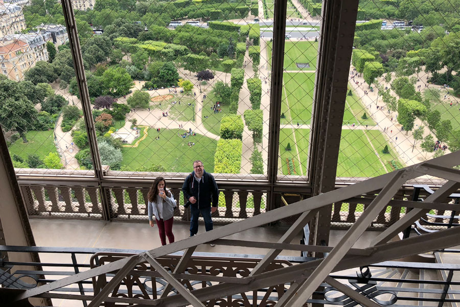 Paris Travel Guide: Top tips for how to visit the top of the Eiffel Tower in Paris France 1st first floor