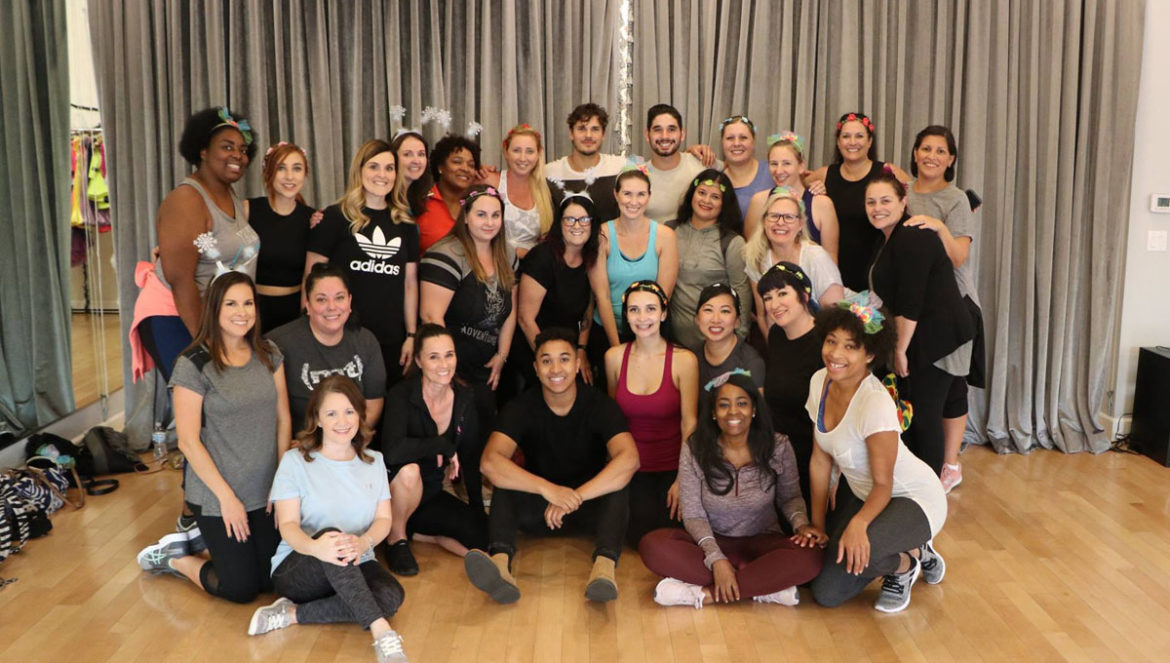Dance lesson and interview withDancing with the Stars pros and Dancing with the Stars: Juniors mentors Brandon Armstrong, Gleb Savchenko, and Alan Bersten at Pro Dance LA. Blogger group