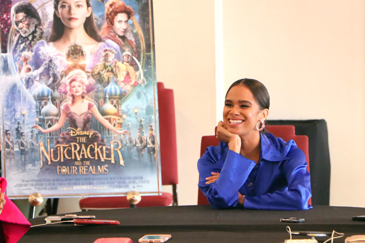 Misty Copeland interview about her role as the Princess Ballerina in The Nutcracker and the Four Realms and diversity in ballet and dance.